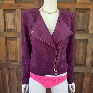 Calvin klein faux suade bikers jacket